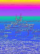 Departing Ferry Print by Tim Allen
