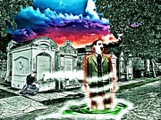 Lafayette Digital Art Prints - Departing Spirit From The Ruins Of A  New Orleans Cemetery Print by James Griffin