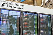 Communication Photos - Departure board at airport by Sami Sarkis