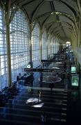 Airports Photo Posters - Departure terminal at Poster by Stephen Alvarez