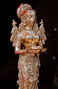 Indian Goddess Prints - Depavali Festival South Street Seaport NYC 10 02 11 Statuette of Print by Robert Ullmann