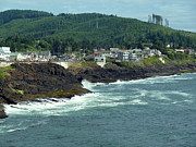 Spouting Prints - Depoe Bay Oregon Afternoon Print by Methune Hively