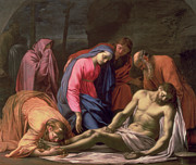 Lamb Of God Painting Posters - Deposition Poster by Eustache Le Sueur