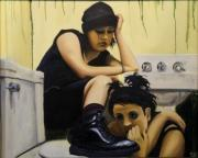 Toilet Painting Originals - Depraved Youth by Forrest King