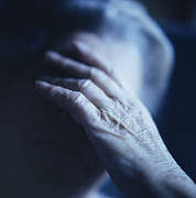 Psychiatry Art - Depressed Elderly Woman by Cristina Pedrazzini