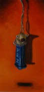 Strange Paintings - Depressed Pez by Leah Saulnier The Painting Maniac