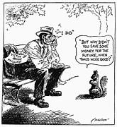 Depression Cartoon 1932 Print by Granger