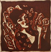 Linoleum Drawings - Der lugner by Preston -