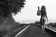 Art Nude Posters - Derailed Poster by David  Naman