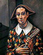 Lute Photo Framed Prints - Derain: Harlequin, 1919 Framed Print by Granger
