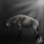 Creature Digital Art Originals - Deranged by Angelique Burke