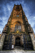 Gothic Poster Prints - Derby Cathedral Tower Print by Yhun Suarez
