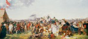 Grandstand; Races; Victorian; Crowd; Exterior Prints - Derby Day Print by William Powell Frith