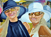 Kentucky Derby Painting Originals - Derby Girls by Michael Lee