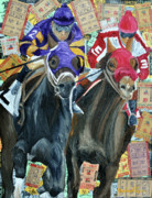 Jockey Mixed Media - Derby Tickets II by Michael Lee