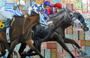 Jockey Mixed Media - Derby Tickets III by Michael Lee