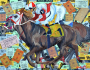 Kentucky Derby Mixed Media Prints - Derby Tickets Print by Michael Lee