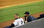 Jeter Photos - Derek Jeter and Alex Rodriguez  by Andrew  Cragin