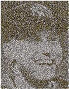 Derek Jeter Baseballs Mosaic Print by Paul Van Scott