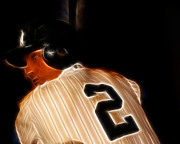 National League Prints - Derek Jeter II- New York Yankees - Baseball  Print by Lee Dos Santos