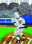 Derek Jeter Paintings - Derek Jeter by Jeff Caturano