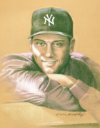 Mlb Drawings Posters - Derek Jeter Poster by Kurt Holdorf