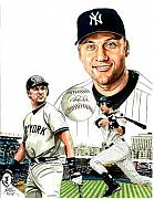 Mlb Mixed Media - Derek Jeter by Neal Portnoy