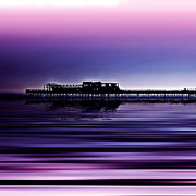 Purple Sea Print Posters - Derelict Beauty Poster by Sharon Lisa Clarke