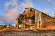 Dilapidated Digital Art - Derelict Boatshed by Darryl Luscombe