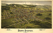 Vintage Map Digital Art - Derry Station Pennsylvania by Donna Leach