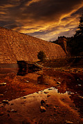 River Pyrography Metal Prints - Derwent Overflow Metal Print by Nigel Hatton