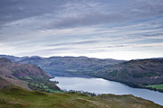 Derwent Reservoir Prints - Derwent Water From Latrigg Print by Julian Elliott Ethereal Light