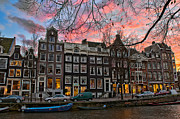 Buildings At Sunset Prints - Desafinado-Prinsengracht. Amsterdam Print by Juan Carlos Ferro Duque