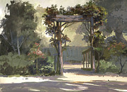 Garden Painting Originals - Descanso Gardens by Michael Humphries