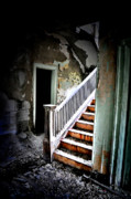 Abandoned Buildings Photo Prints - Descending Print by Emily Stauring