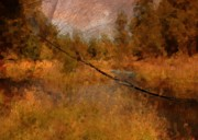 Deschutes River Prints - Deschutes River Abstract Print by Carol Groenen