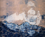Couples Mixed Media Prints - Desdemona and Othello - Tragic Sea of Love Print by Jaeda DeWalt