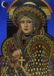 Costume Metal Prints - Desdemona Metal Print by Jane Whiting Chrzanoska