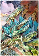 Cactus Originals - Desert Abstract by Mindy Newman