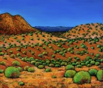 Santa Fe Paintings - Desert Afternoon by Johnathan Harris