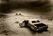 Black Car Prints - Desert Arizona USA Print by Simon Marsden