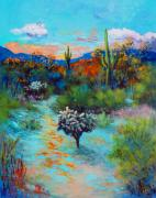 Tucson Originals - Desert at Dusk by M Diane Bonaparte
