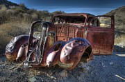 Wrecked Cars Prints - Desert Beauty Print by Bob Christopher