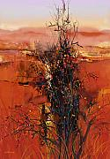 Earth Tone Prints - Desert Bloom Print by Dale  Witherow