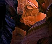 Striations Metal Prints - Desert Bridge Metal Print by Mike  Dawson