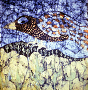 Texture Tapestries - Textiles Prints - Desert Crow Print by Carol Law Conklin