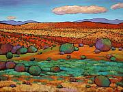 Oranges Paintings - Desert Day by Johnathan Harris