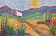 Southwest Landscape Paintings - Desert Dreams by Anita Burgermeister