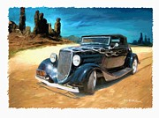 Custom Automobile Digital Art Posters - Desert Drive Poster by RG McMahon