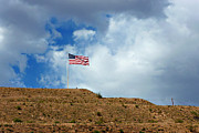 Waving Flag Framed Prints - Desert Flag Framed Print by Methune Hively